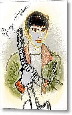 George Harrison - 3 Metal Print by GooDaCool Gallery