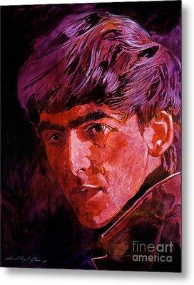 George Harrison Metal Print by David Lloyd Glover