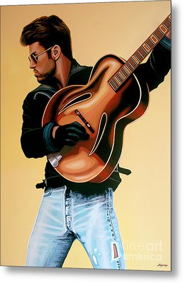 George Michael Painting Metal Print by Paul Meijering