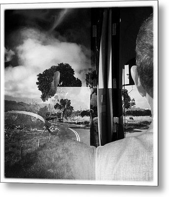 George On The Bus Metal Print by Kelly Jade King