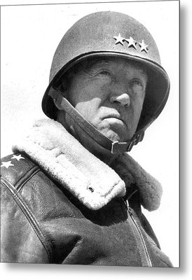 George S. Patton Unknown Date Metal Print by David Lee Guss