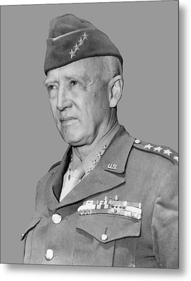 George S. Patton Metal Print by War Is Hell Store