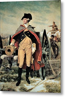 George Washington At Dorchester Heights Metal Print by Emanuel Gottlieb Leutze