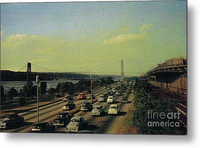 Metal Print featuring the photograph George Washington Bridge  by Cole Thompson