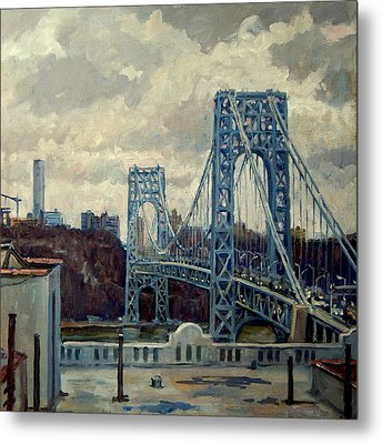 George Washington Bridge Metal Print by Thor Wickstrom