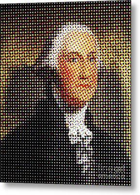 George Washington In Dots  Metal Print