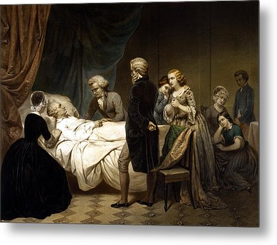 Metal Print featuring the painting George Washington On His Deathbed by War Is Hell Store