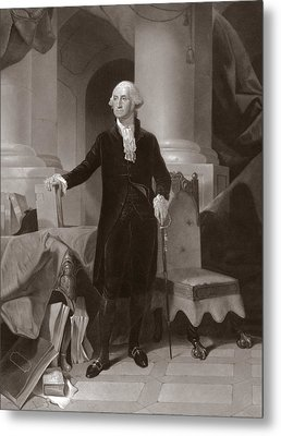 George Washington Metal Print by Peter Frederick Rothermel