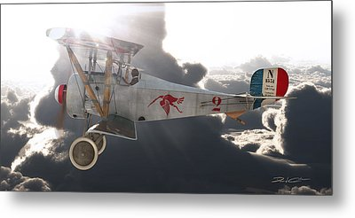 Georges Guynemer Nieuport 17 Metal Print by David Collins
