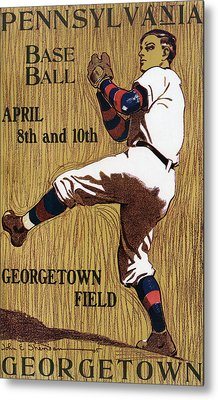 Georgetown Baseball Game Poster Metal Print by American School