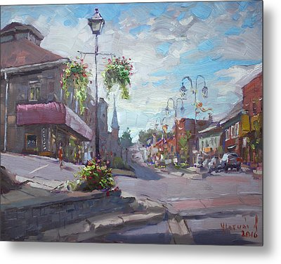 Georgetown Downtown Metal Print by Ylli Haruni