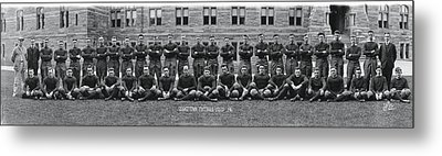Georgetown U Football Squad Metal Print by Panoramic Images