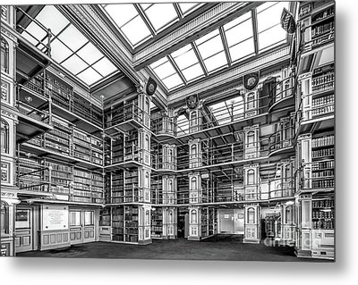Georgetown University Riggs Library Metal Print by University Icons