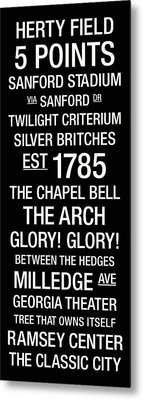 Georgia College Town Wall Art Metal Print