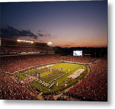 Georgia Sunset Over Sanford Stadium Metal Print by Replay Photos