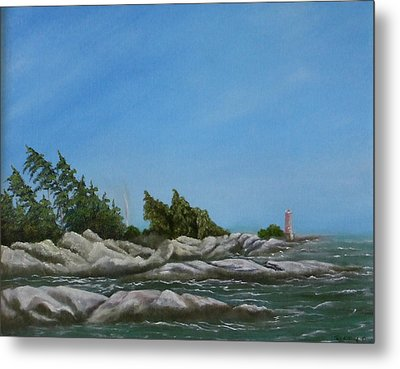 Georgian Bay Metal Print by Rebecca  Fitchett