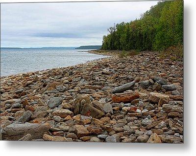 Georgian Bay Rocky Shoreline Metal Print by Barbara McMahon