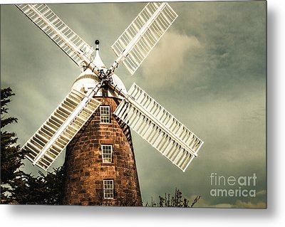 Metal Print featuring the photograph Georgian Stone Windmill  by Jorgo Photography - Wall Art Gallery
