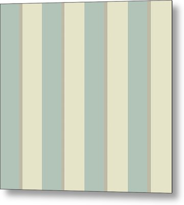 Georgian Stripe Eau De Nil Metal Print by Sarah Vernon