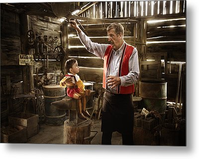 Geppetto's Workshop Metal Print
