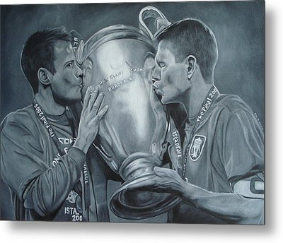 Metal Print featuring the painting Gerard An Carragher by David Dunne