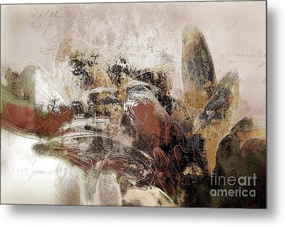 Metal Print featuring the mixed media Gerberie - 152s by Variance Collections