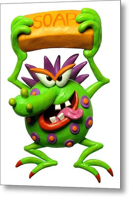 Germ Monster Metal Print by Amy Vangsgard