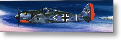 German Aircraft Of World War Two Focke Wulf Fighter Metal Print by Wilf Hardy