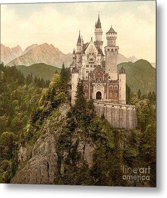 German Castle Neuschwanstein Metal Print by Padre Art