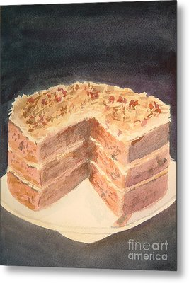 German Chocolate Cake Metal Print
