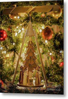 German Christmas Pyramid Metal Print