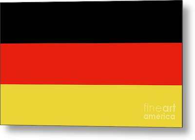 Metal Print featuring the digital art German Flag by Bruce Stanfield