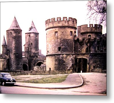German Gate In Metz 1955 Metal Print by Will Borden