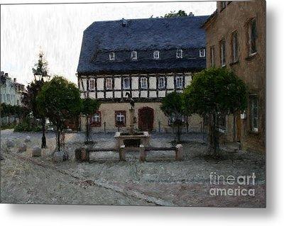 German Town Square Metal Print