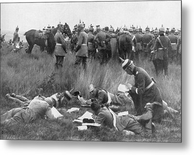 Germans Decipering Code Metal Print by Underwood Archives