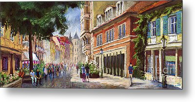 Germany Baden-baden Lange Str Metal Print by Yuriy  Shevchuk