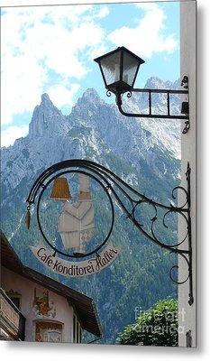Germany - Cafe Sign Metal Print by Carol Groenen