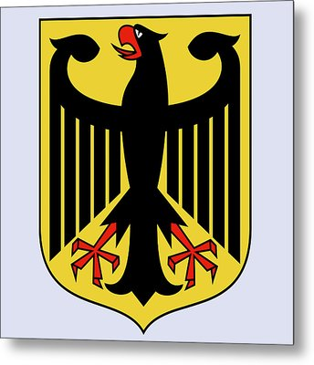 Germany Coat Of Arms Metal Print by Movie Poster Prints