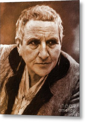 Gertrude Stein, Literary Legend By Mary Bassett Metal Print by Mary Bassett