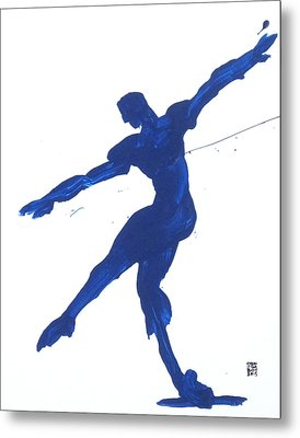 Gesture Brush Blue 2 Metal Print