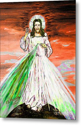 Metal Print featuring the painting Gesu' by Loredana Messina