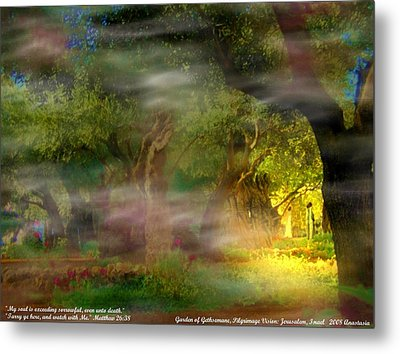 Metal Print featuring the photograph Gethsemane Vision-2008 by Anastasia Savage Ealy