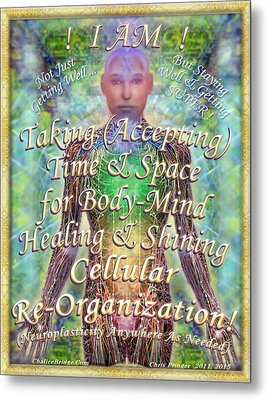 Metal Print featuring the digital art Getting Super Chart For Affirmation Visualization V2 by Christopher Pringer