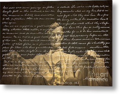 Gettysburg Address Metal Print by Diane Diederich