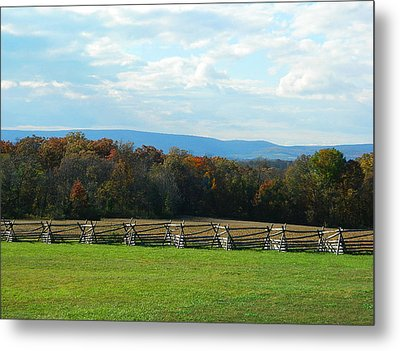Metal Print featuring the photograph Gettysburg Battlefield And Beyond by Emmy Marie Vickers