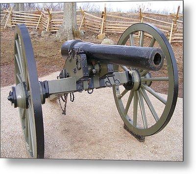 Gettysburg Cannon Metal Print by Adam Cornelison