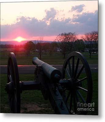 Gettysburg Cannon Metal Print by Eric  Schiabor