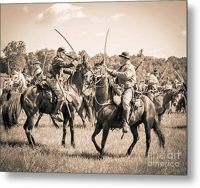 Gettysburg Cavalry Battle 7978s  Metal Print