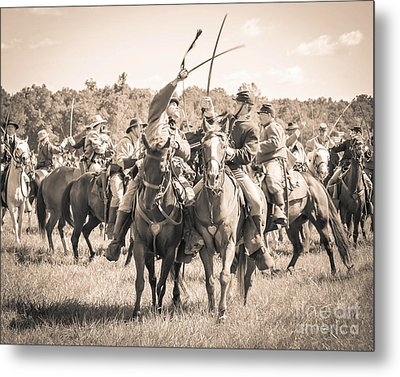 Gettysburg Cavalry Battle 7992s  Metal Print