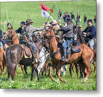 Gettysburg Cavalry Battle 8021c  Metal Print